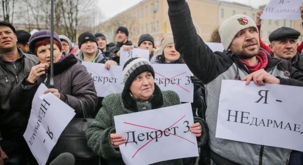 В Белоруссии прошли митинги противников декрета