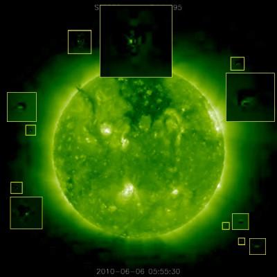 Возле Солнца обнаружили НЛО