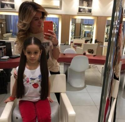 Поклонники восхитились волосами дочки Ксении Бородиной