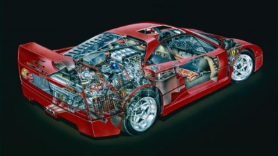 Специалисты из США показали скрытые детали Ferrari F40