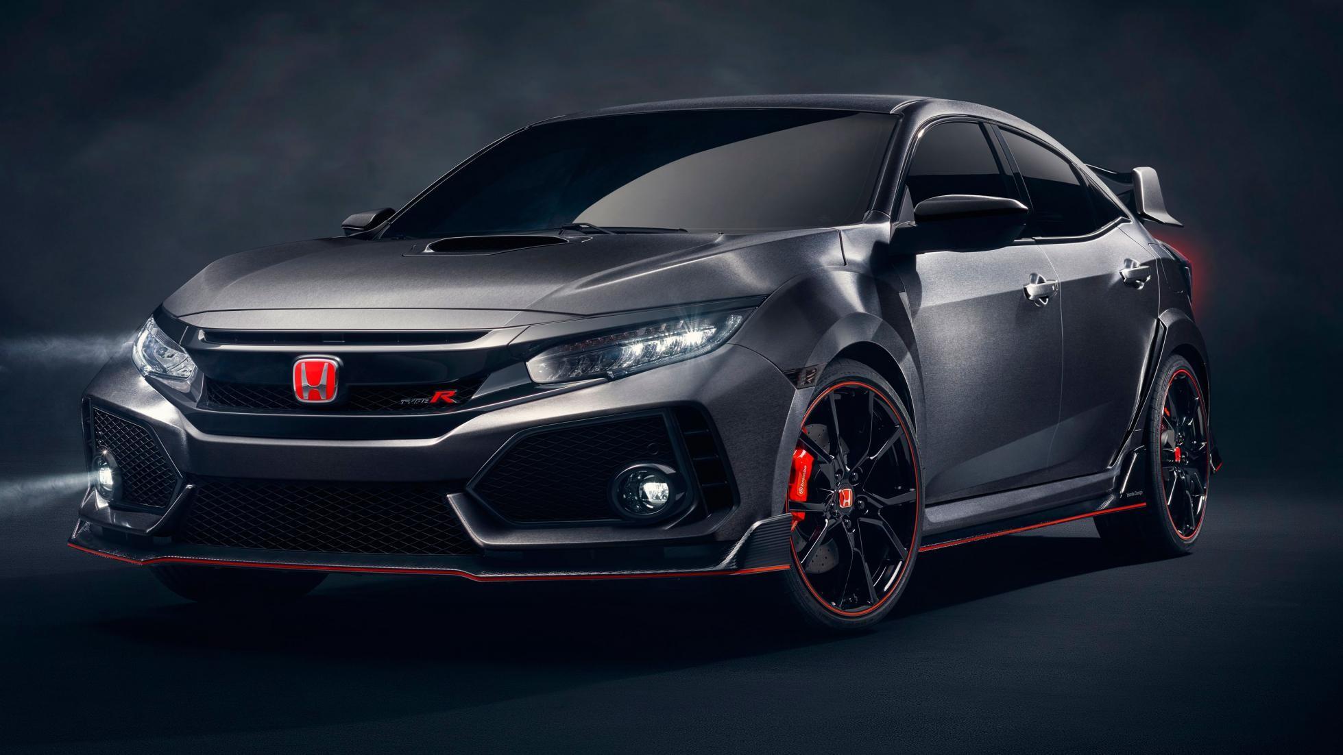 Появились первые фото хэтчбека Хонда Civic Type R