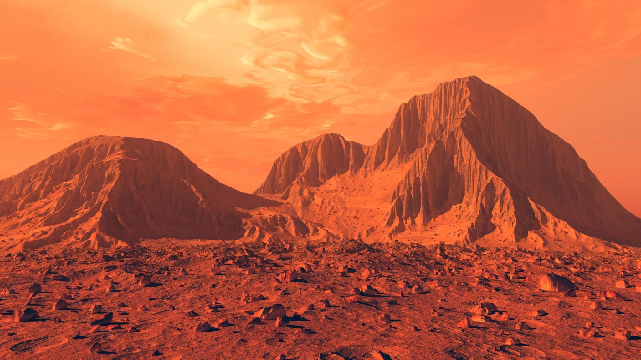 Вглубинах Марса найдены микроорганизмы иметан