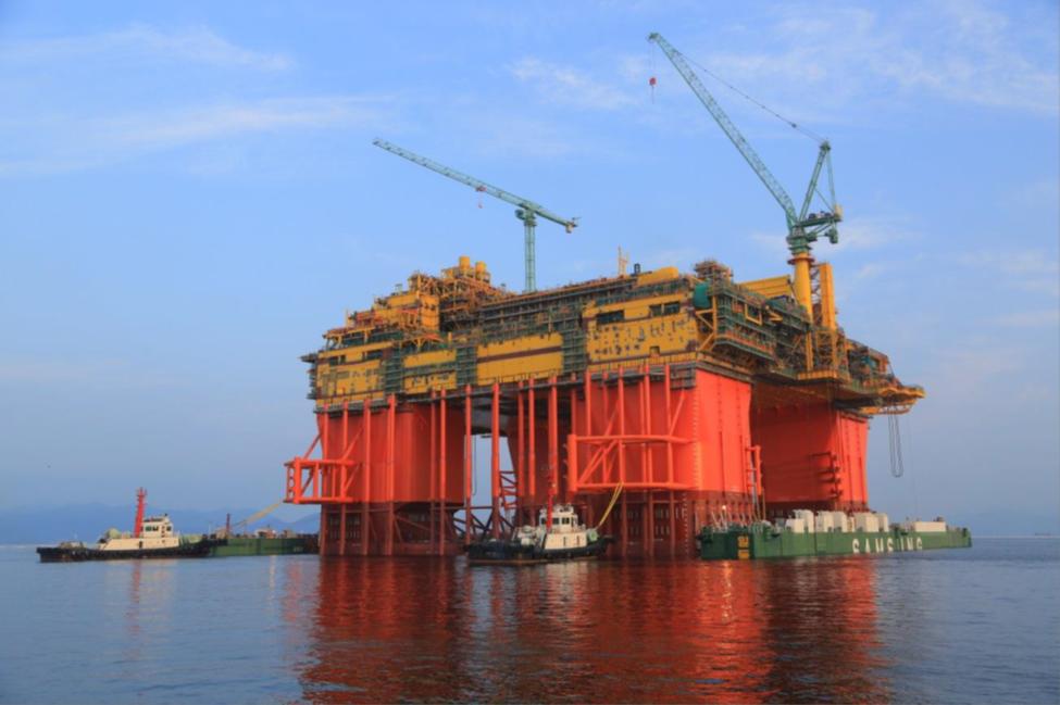 В Китайская республика построили буровую платформу для работ вЮжно-Китайском море