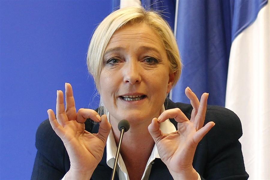 Марин ЛеПен удерживает лидерство впредвыборной гонке запост президента Франции
