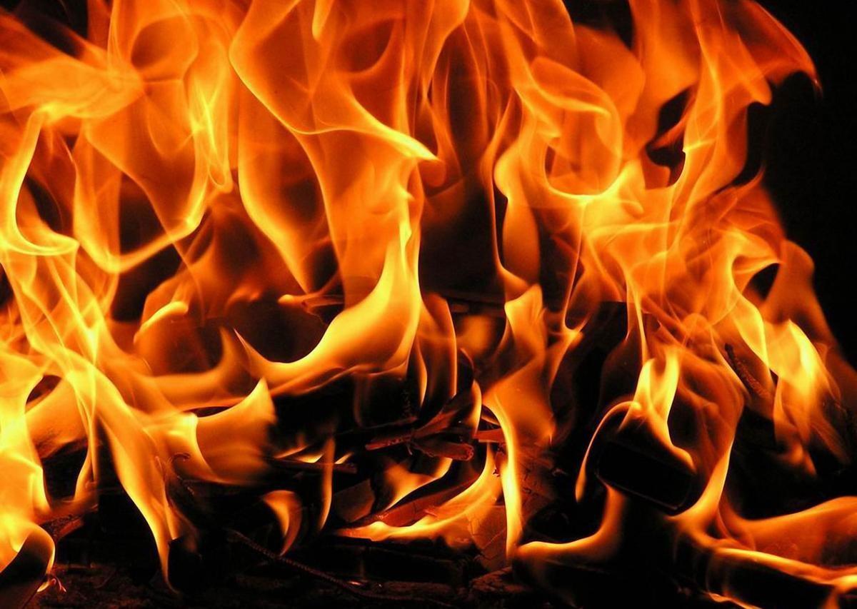 Рейсовый автобус сгорел дотла насевере столицы