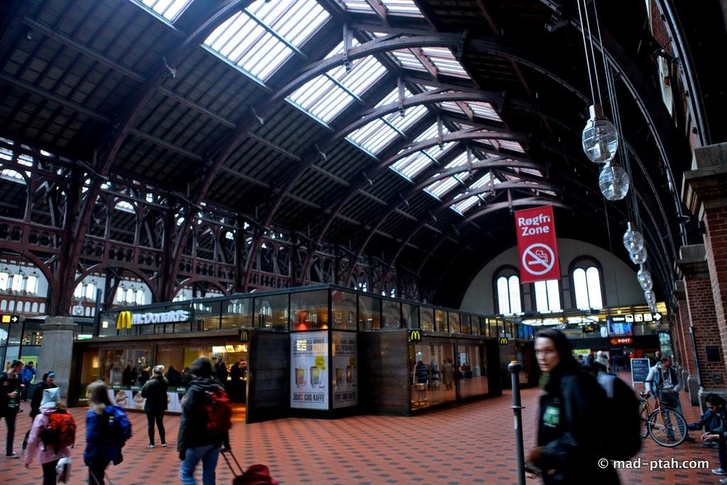 Вокзал вцентре Копенгагена закрылся из-за «бомбы»