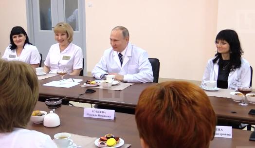 Путин объявил обуспехе русских программ поддержки демографии