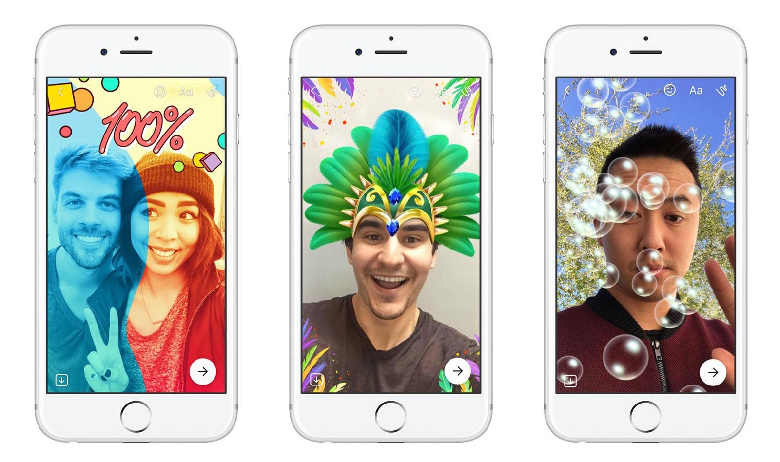 Социальная сеть Facebook  запустила функцию исчезающих фото- ивидеостатусов вMessenger