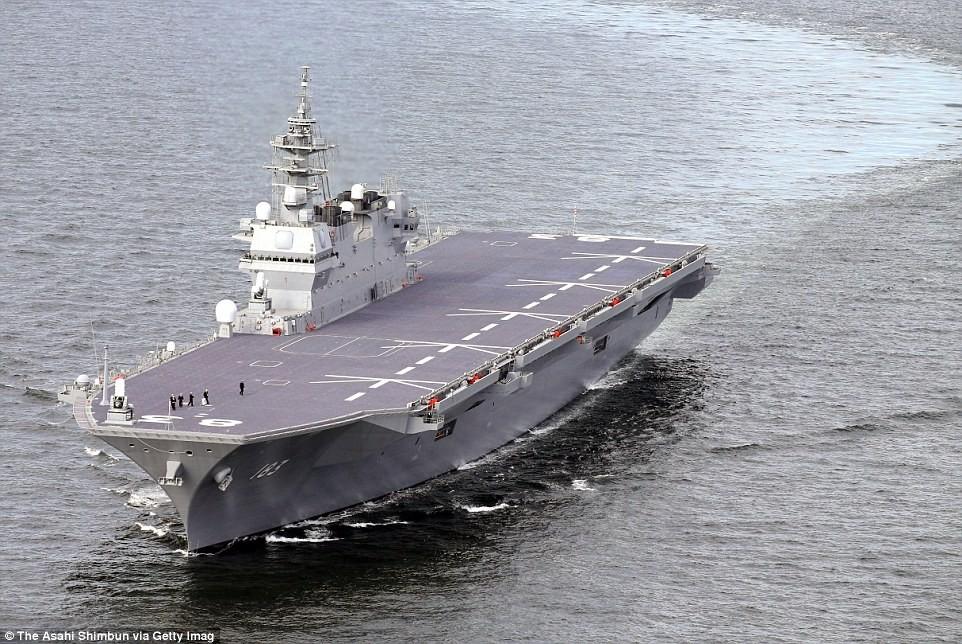 Япония отправит крупнейший вертолетоносец вЮжно-Китайское море