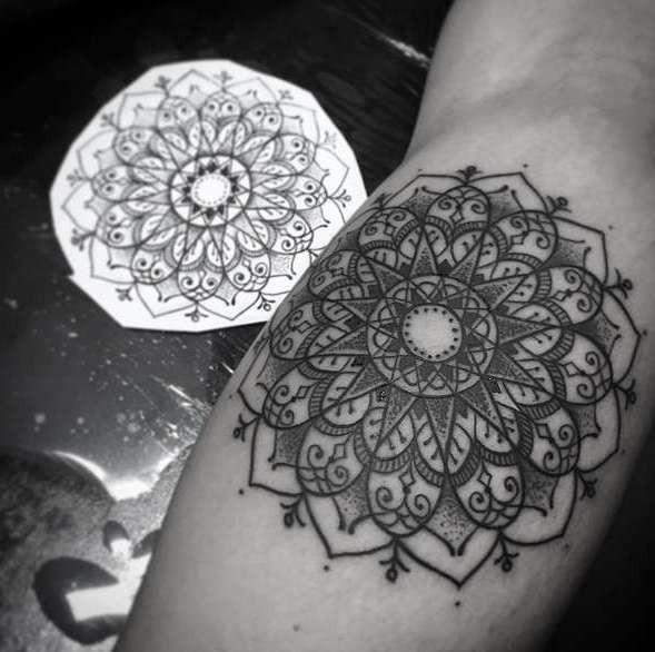 Мандала как татуировка