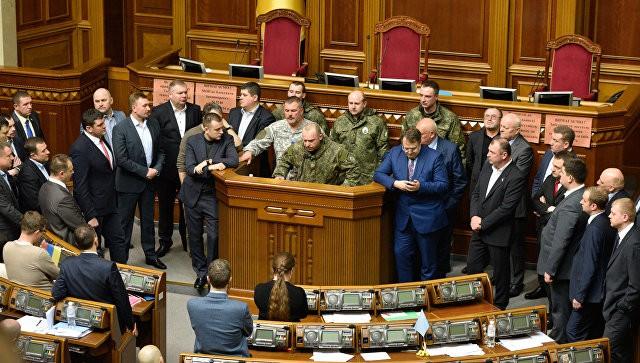 Совещание Рады закрыли после появления взале силовиков