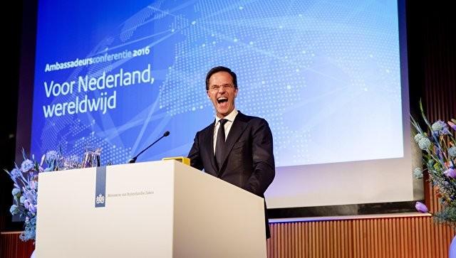 Евроскептики отстали отпартии премьера Рютте навыборах вНидерландах