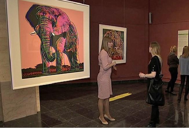 Выставка Энди Уорхола «Вымирающие виды» открылась вДарвиновском музее