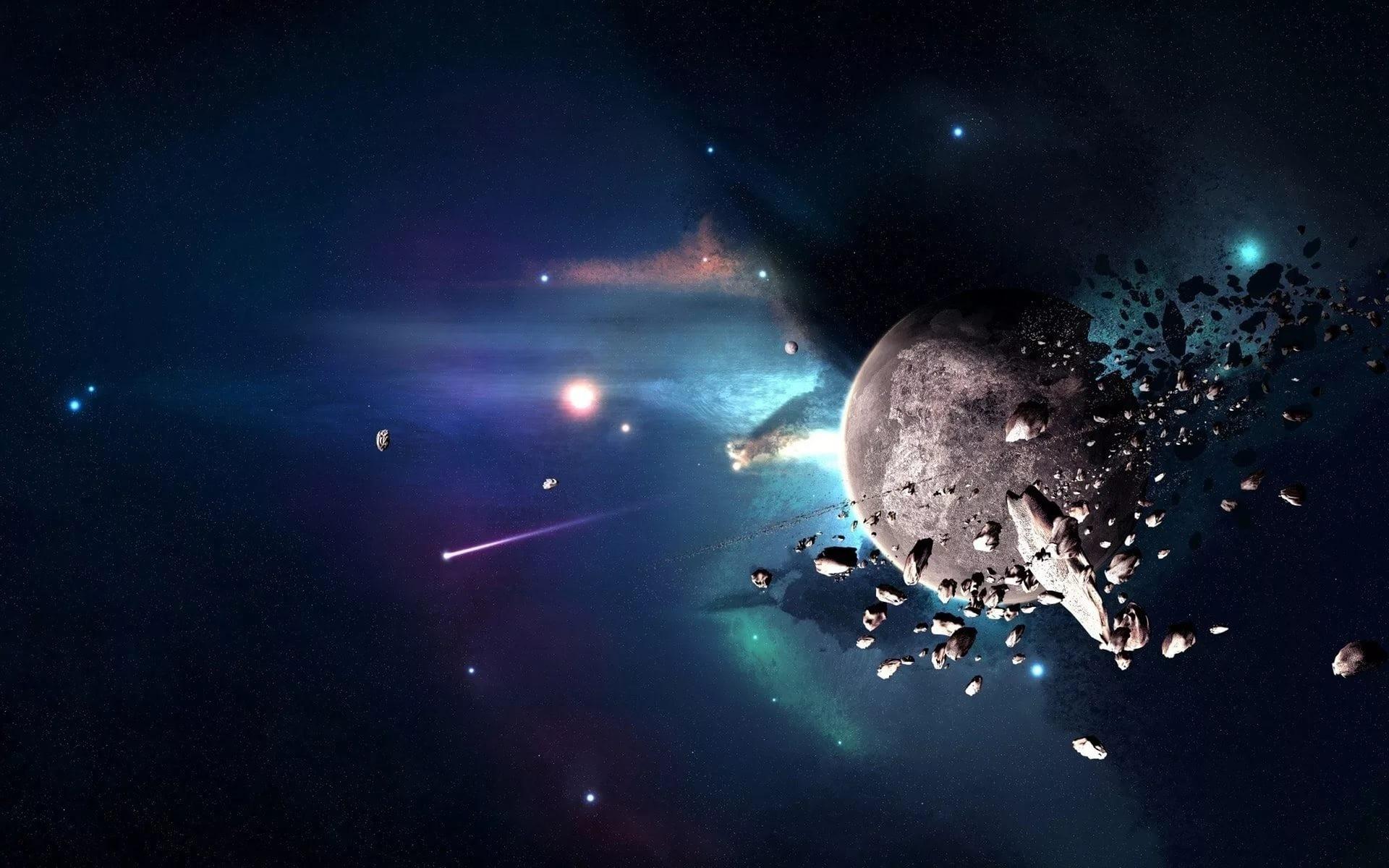Во время трансляции с модуля Купол в объектив попали два НЛО