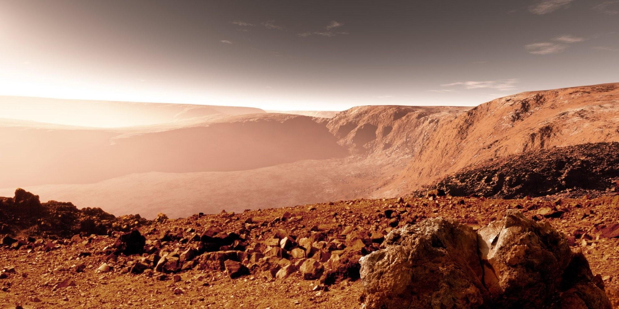 NASA показало глиняную долину наМарсе