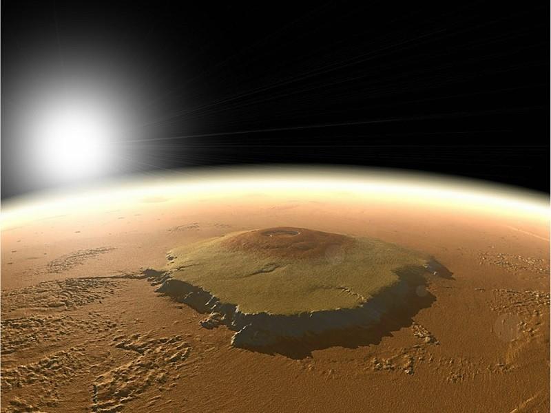 NASA представило доказательства активности одного извысочайших вулканов Марса