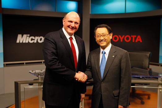 Тойота иMicrosoft будут сотрудничать вобласти подключенных кинтернету авто