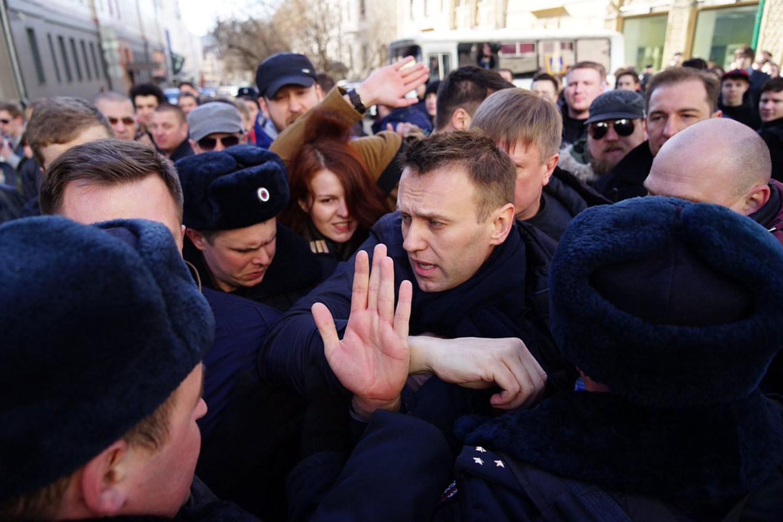 Навального арестовали на15 суток