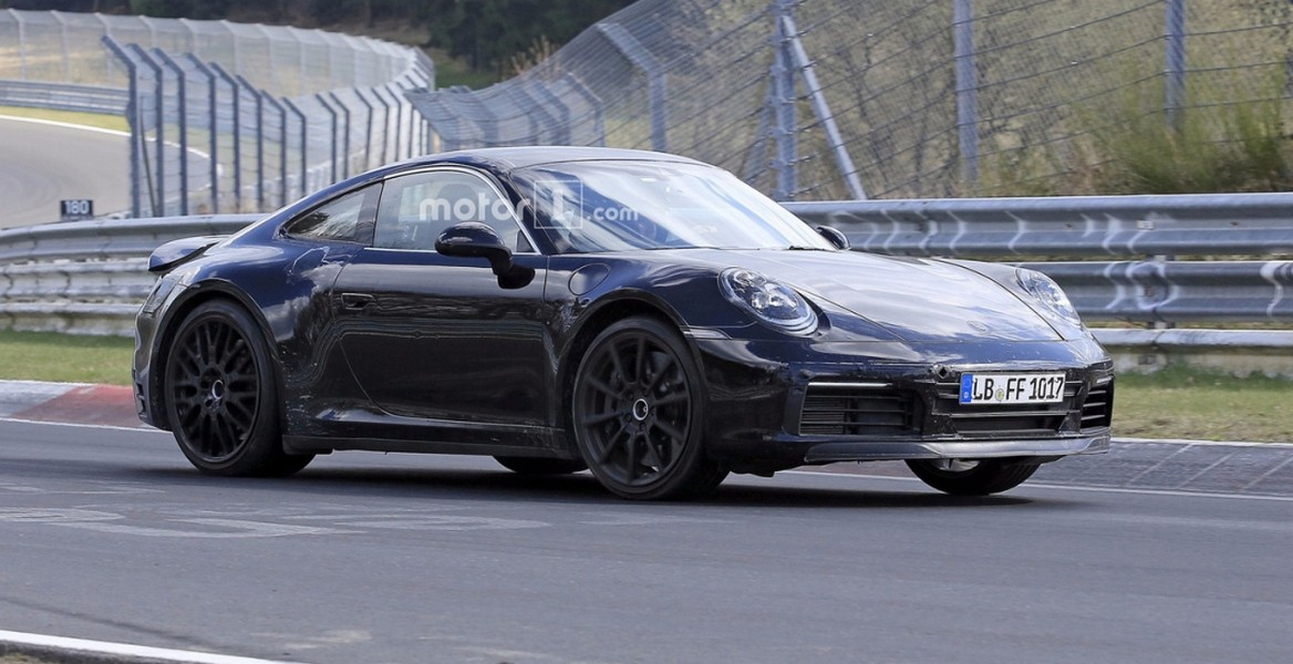 Винтернете появились шпионские фото нового Порш 911 Hybrid