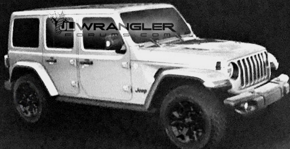Винтернете появились новые изображения джипа Jeep Wrangler JL