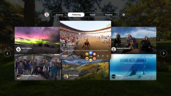 Facebook 360 уже доступен для владельцев VR-шлемов