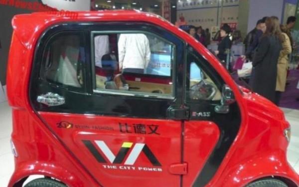 В Китае презентовали миниатюрный электромобиль