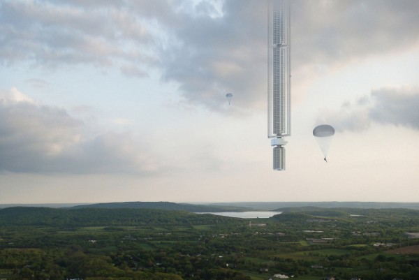 Архитекторы США представили проект небоскрёба на астероиде
