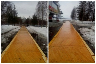Власти Архангельска объяснили паркет на дорогах