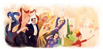 На главной странице Google появился Сергей Дягилев