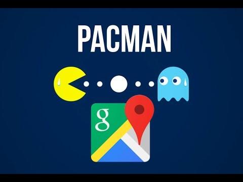 Сейчас вGoogle Maps можно сыграть вPac-Man