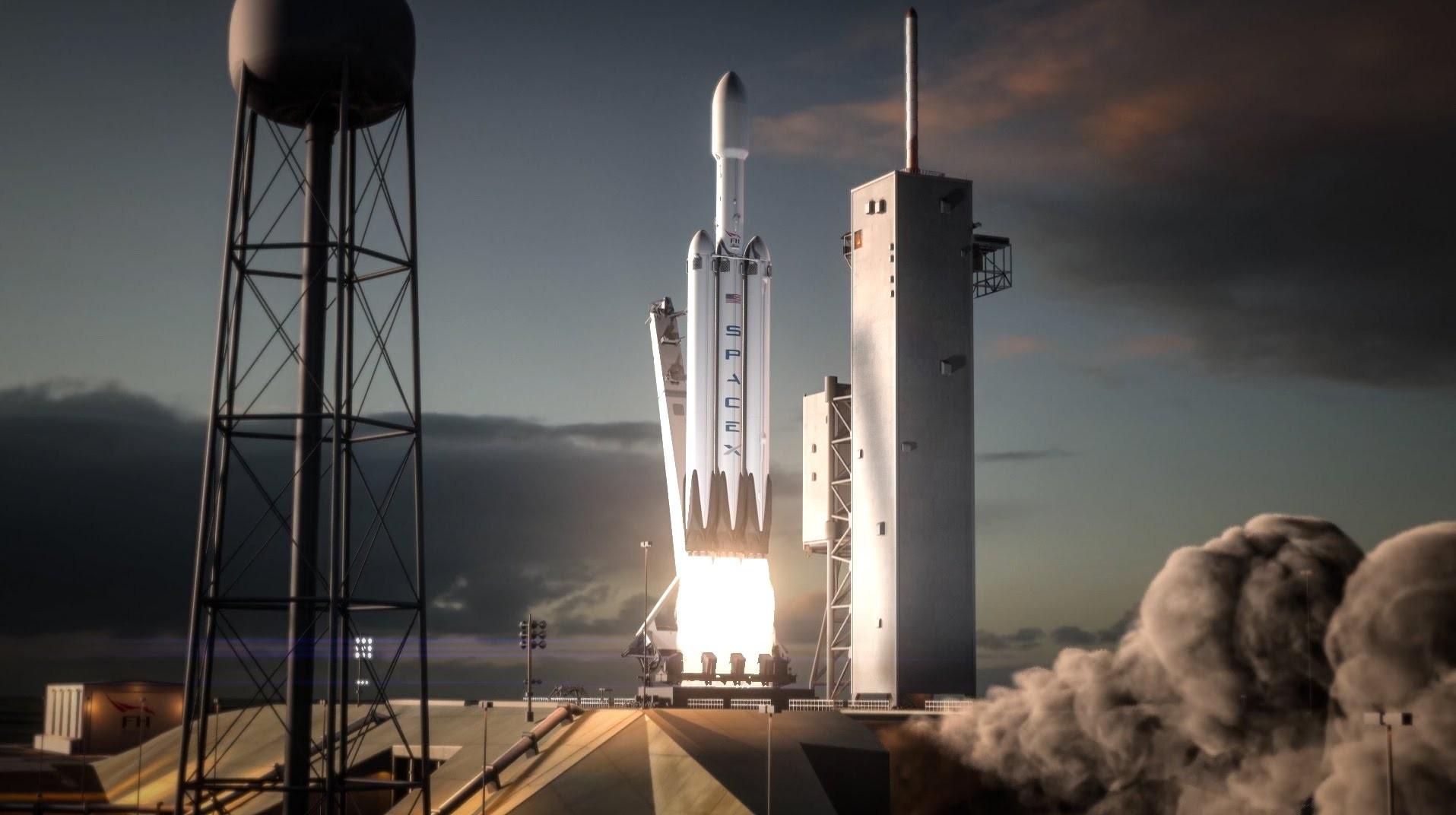 Илон Маск собирается запустить ракету-носитель Falcon Heavy уже в августе