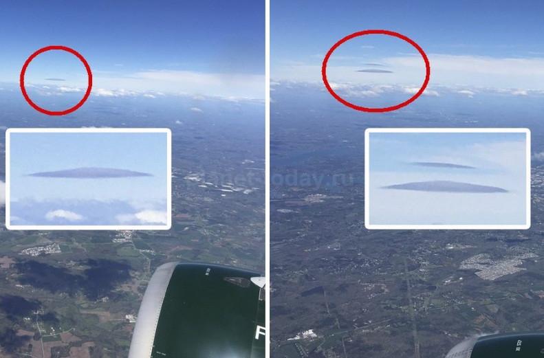 ВСША пассажир самолета разглядел изокна НЛО