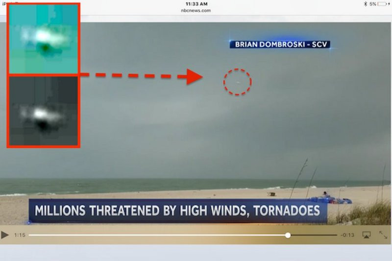 Наамериканском канале NBCTV впроцессе новостей случайно показали НЛО