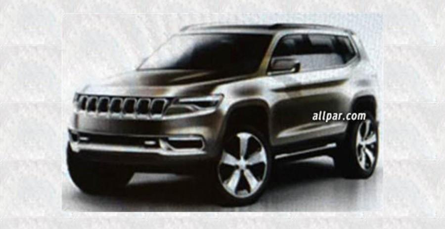 Вглобальной web-сети появились кадры джипа Jeep K8 Hybrid Concept