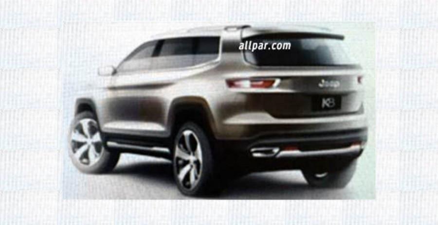 Эскизы длиннобазого джипа Jeep K8 Hybrid Concept попали всеть