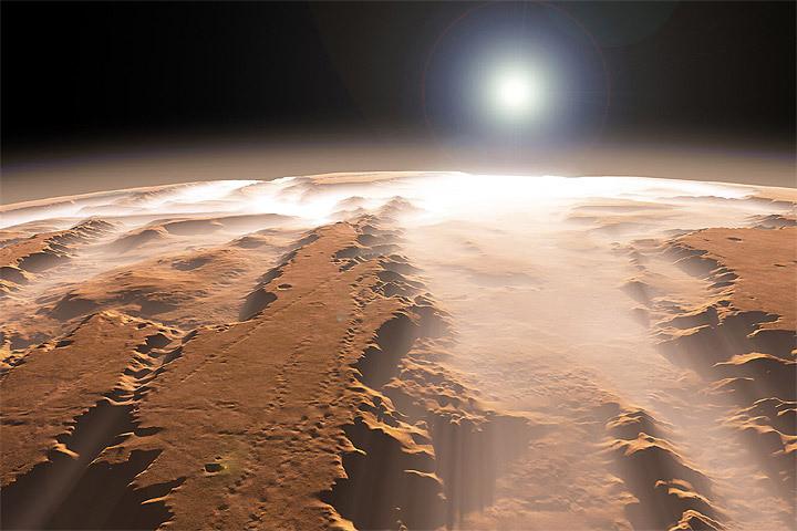 Работники NASA обнаружили ватмосфере Марса металл