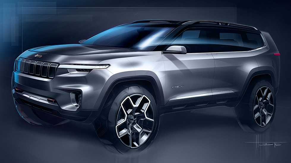 Компания Jeep презентует вШанхае концепт-кар нового джипа Cloud