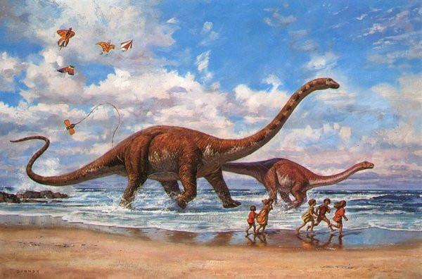 Ученые считают, что динозавры илюди могли жить водно время