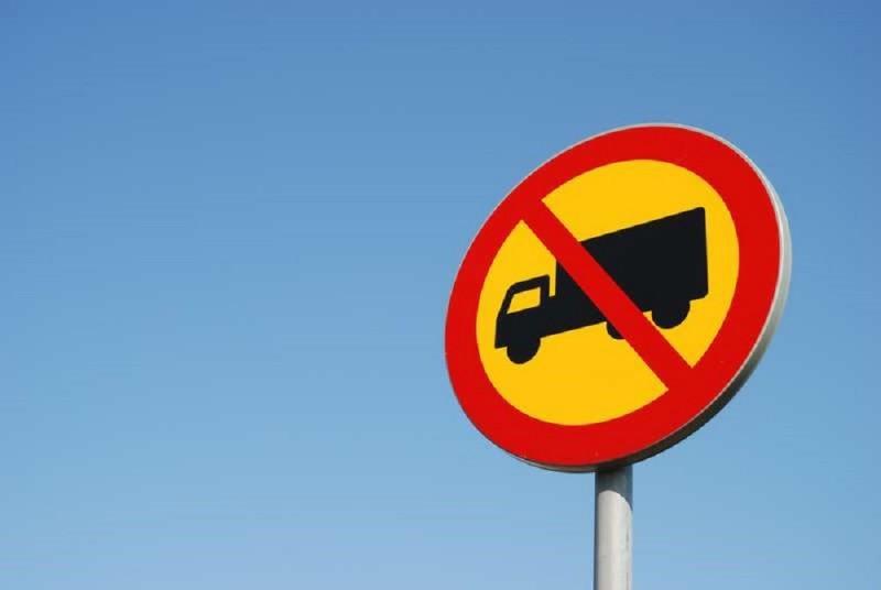 Большегрузным авто запрещают заезд вКрасноярск