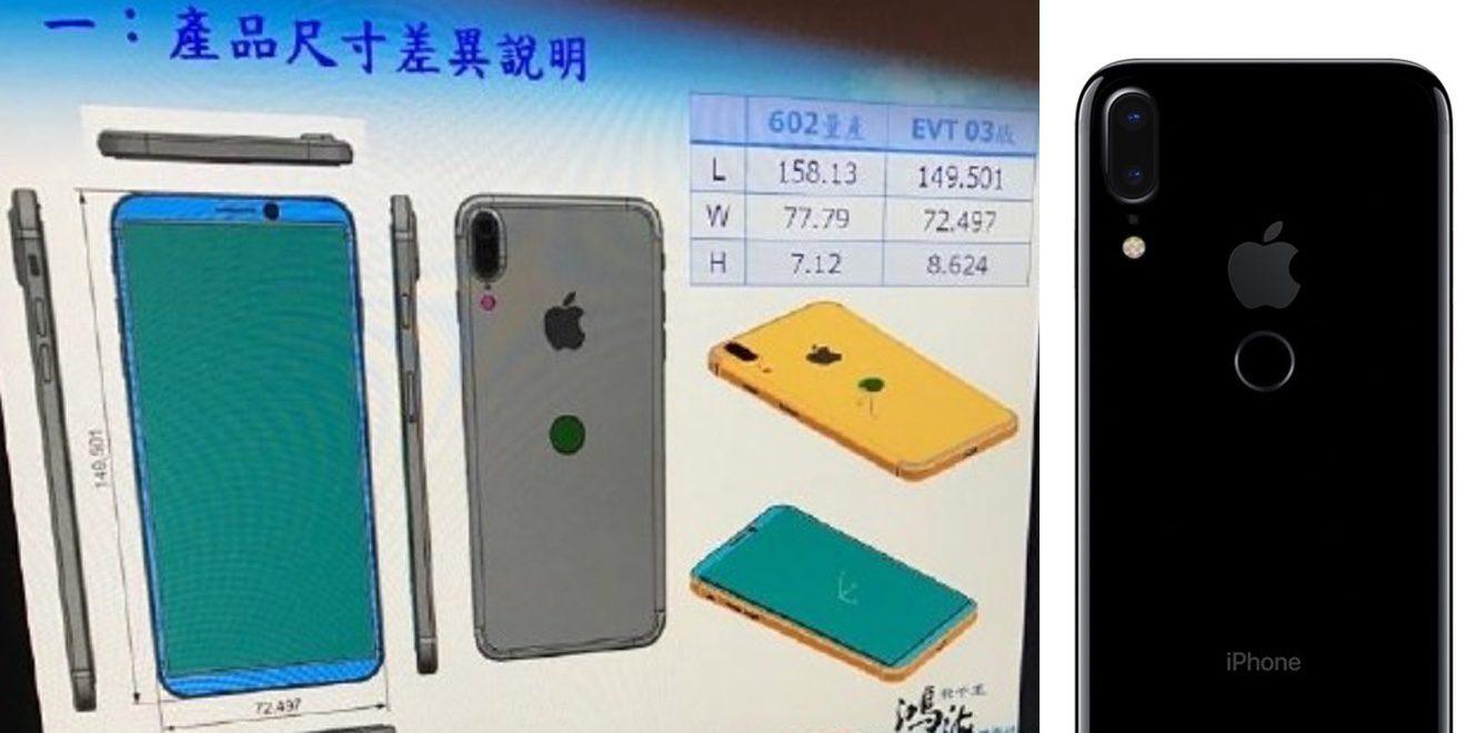 ВiPhone 8 встроят новый сканер отпечатков пальцев TouchID