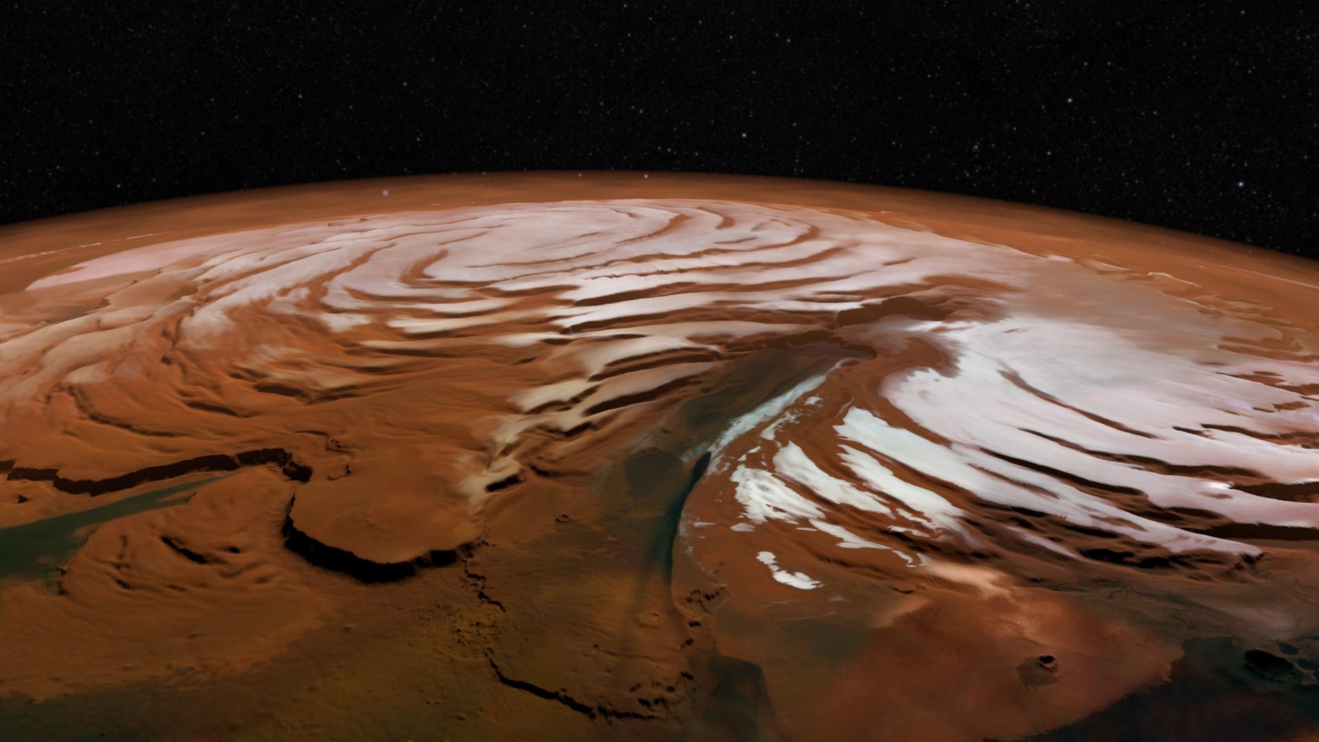 Вweb-сети опубликовали фото «зимнего» Марса