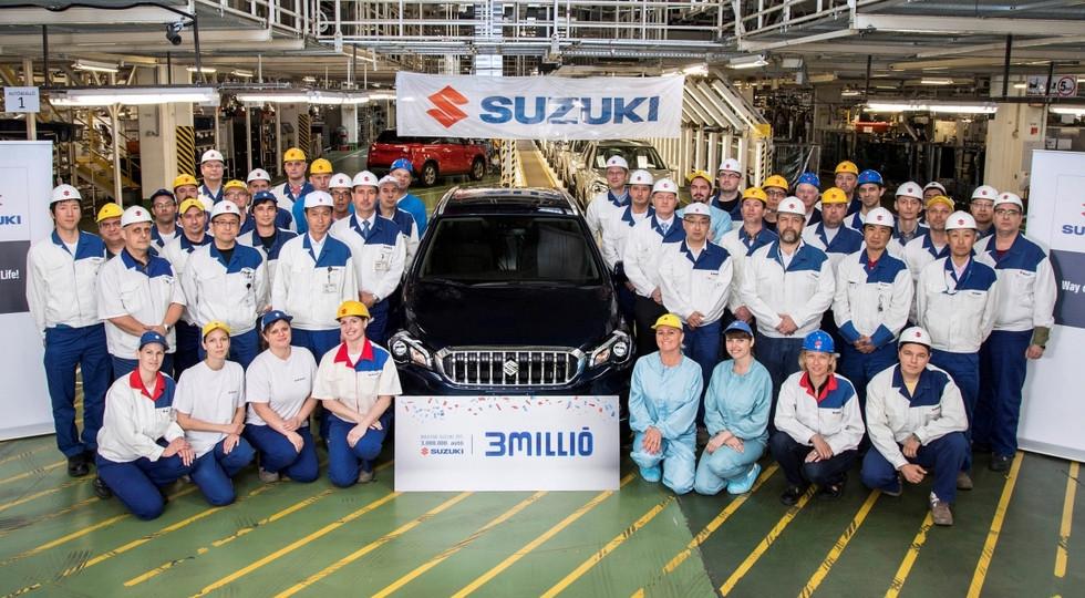Вевропейских странах выпущен 3- миллионный автомобиль Сузуки