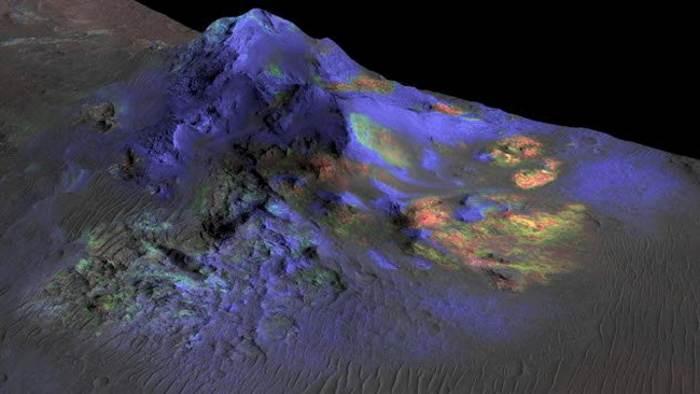 Наснимке сМарса обнаружили пенек окаменевшего дерева