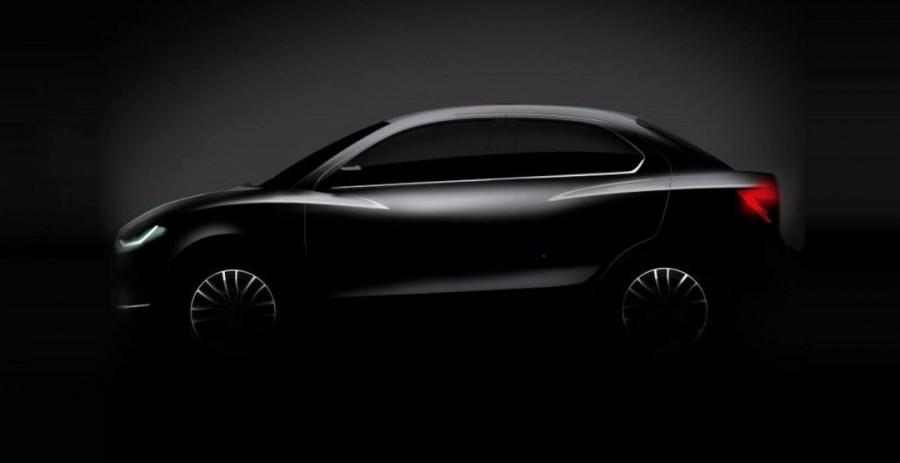Сузуки представила тизер нового бюджетного автомобиля Dzire