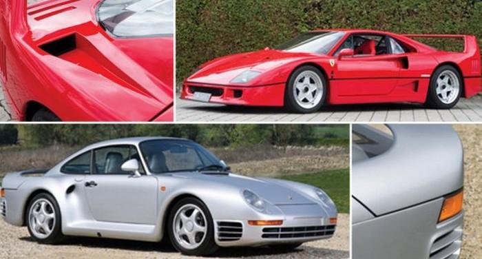 Нааукционе Sotheby's выставлены модели Порш 959 и Феррари F40