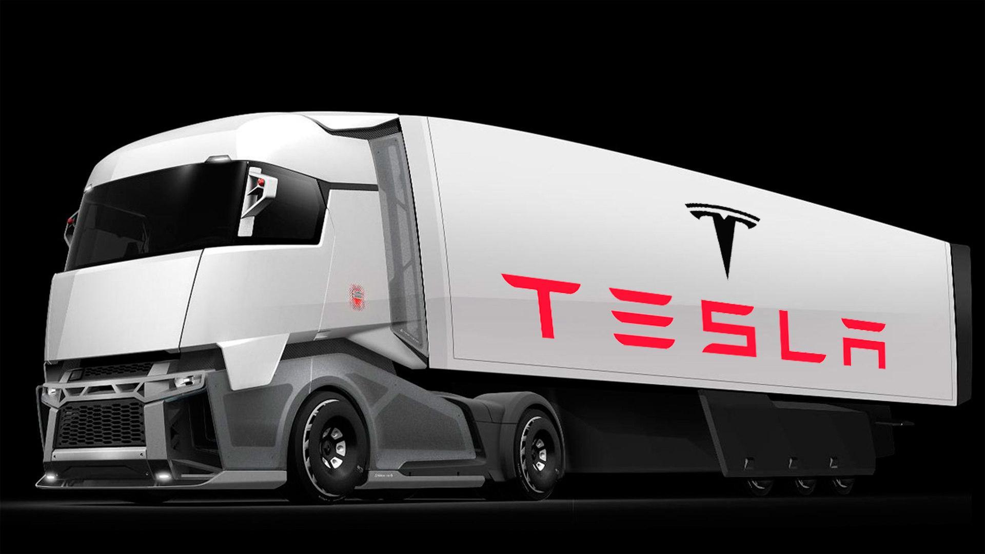 Tesla поделилась вweb-сети 1-ый рендер своего грузовика