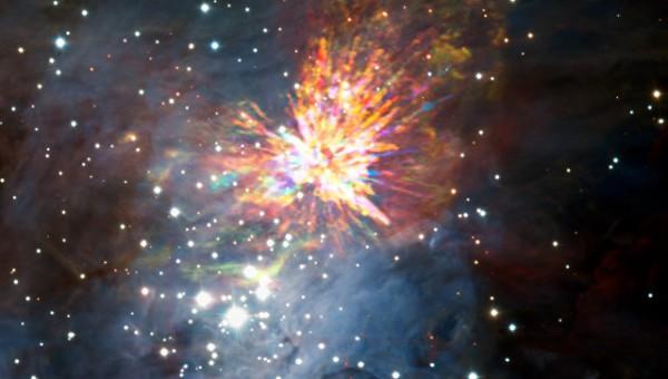 Астрономы опубликовали снимок новорожденной звезды