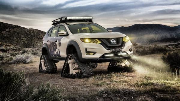 Nissan представит кроссовер Rogue на гусеничном ходу