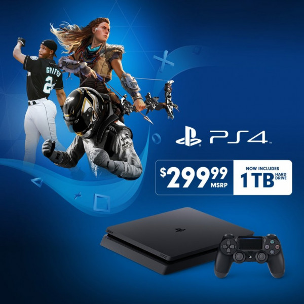 PlayStation 4 Slim поступит в продажу с винчестером на 1 Тб