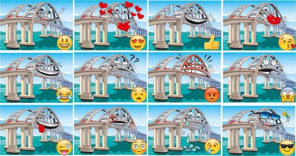 Крымский мост стал героем новых стикеров в мессенджерах